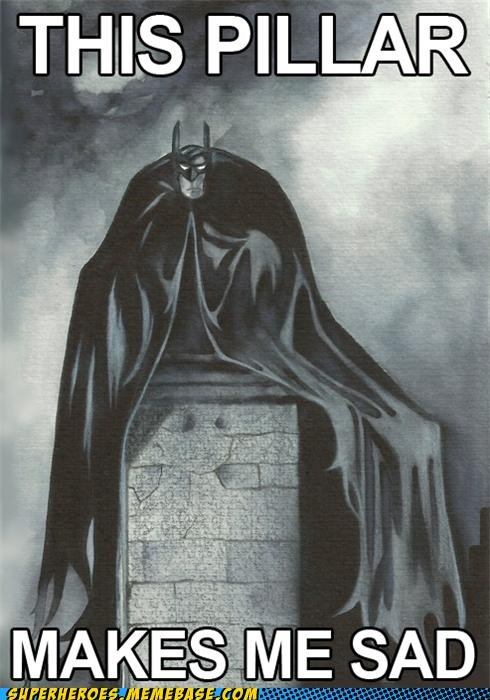 Awesome Art batman pillar Sad - 5335968256