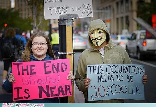 20 Percent Cooler apathy meme Occupy Wall Street ponyville riot - 5335977984