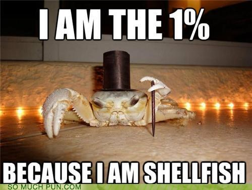 crab Hall of Fame literalism occupy ows selfish shellfish similar sounding the-1 the 99