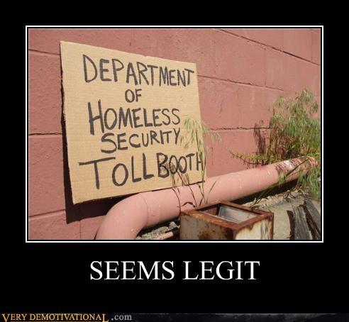hilarious money seems legit tollbooth - 5336046848