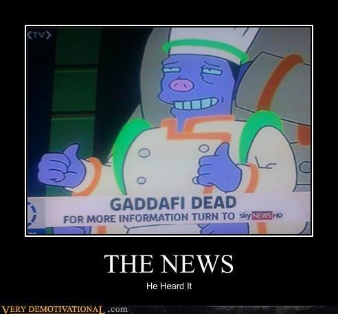 dead futurama gaddafi hilarious news - 5336066560
