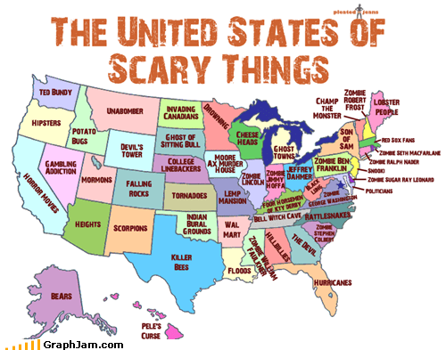 america best of week halloween Maps scary states - 5336190976