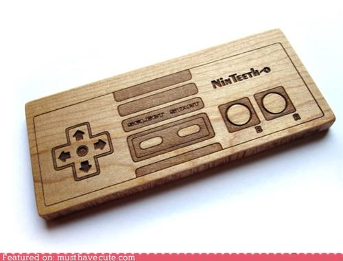 baby controller nintendo teeth teething toy wood
