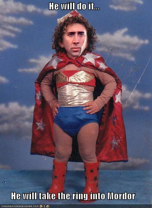Hall of Fame,Lord of the Rings,mordor,nicolas cage,photoshopped,wonder woman,wtf