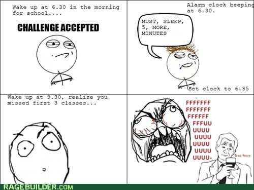 Challenge Accepted overslept Rage Comics sleep - 5336573952