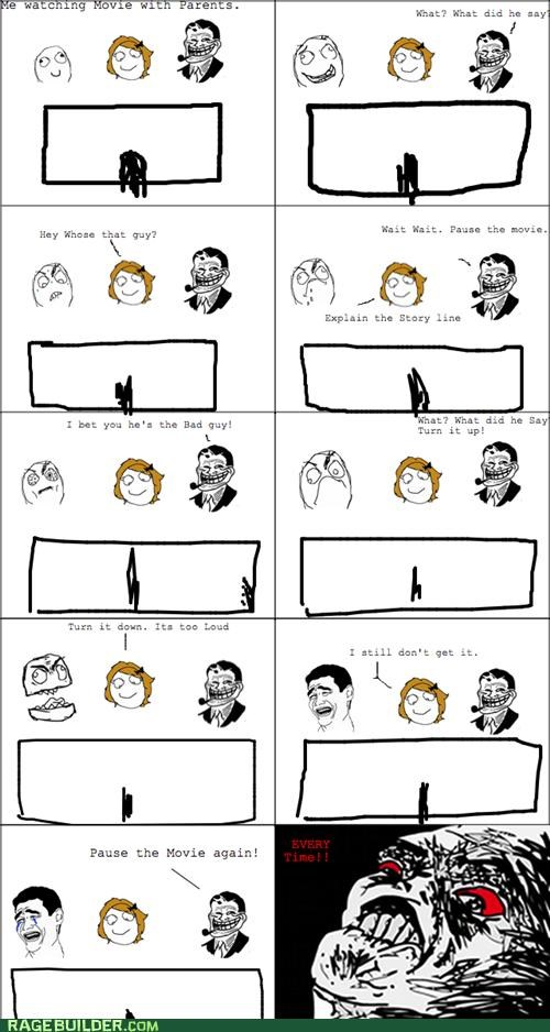 Movie,parents,pause,Rage Comics