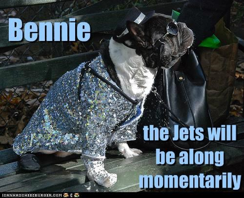Bennie the Jets will be along momentarily