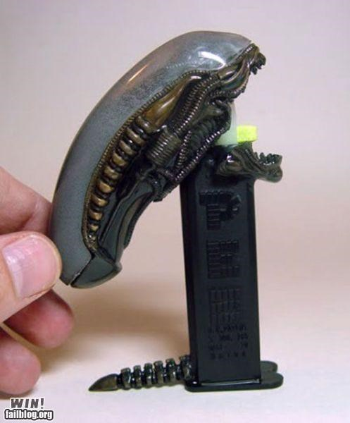 alien candy clever custom nerdgasm pez toy - 5336680192