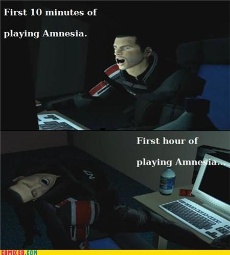 amnesia escape button mass effect video games - 5336693248