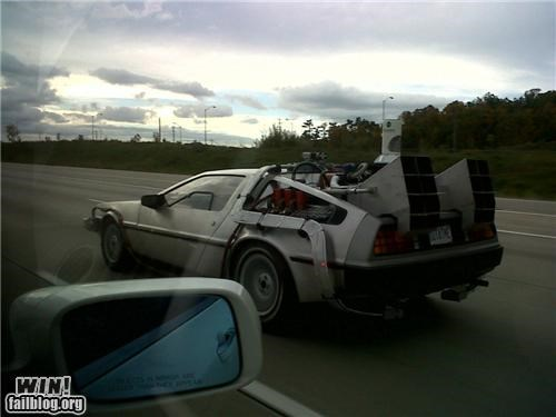 back to the future,cars,DeLorean,Doc Brown,highway,road