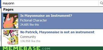 facebook,mayonnaise,patrick,SpongeBob SquarePants