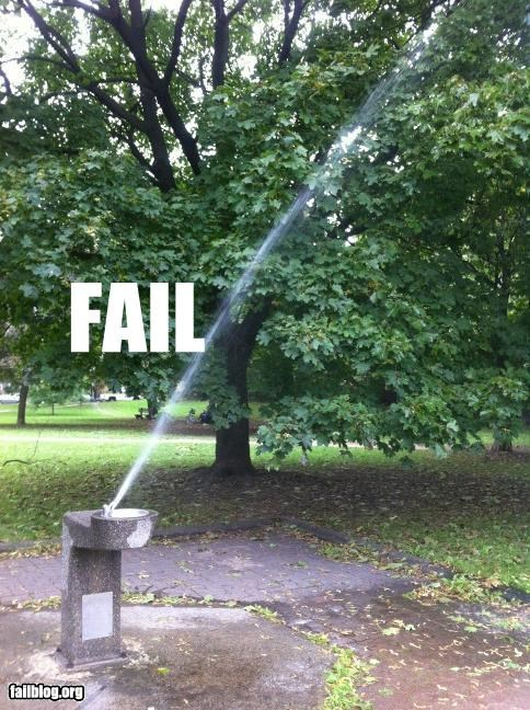 failboat g rated plumbing tax dollars at work water water fountain - 5337220864