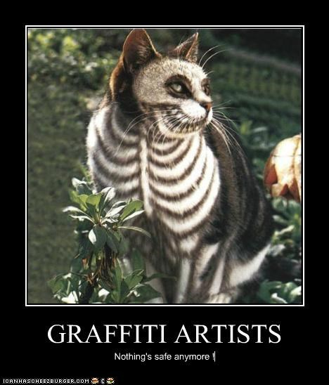 GRAFFITI ARTISTS Nothing's safe anymore !