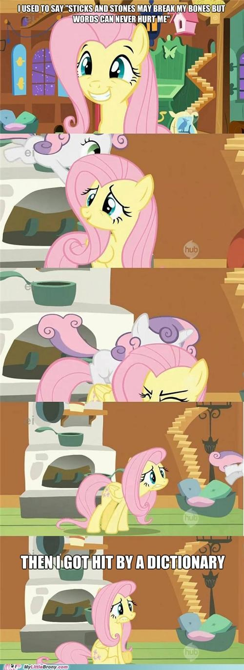 comics dictionary fluttershy sticks and stone Sweetie Belle