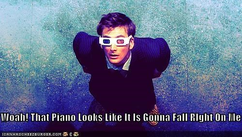 3d,David Tennant,doctor who,fall,piano