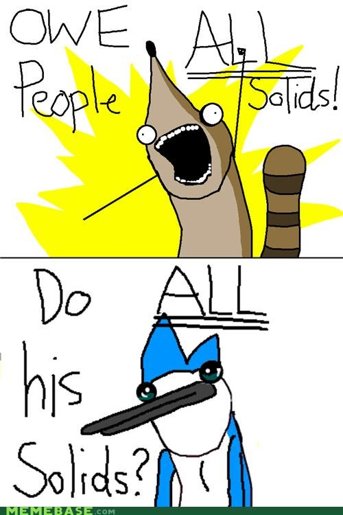 all the things,bird,raccoon,regular show,solids