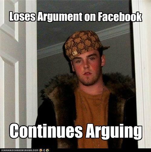 argument continues facebook lost Scumbag Steve status - 5338307328