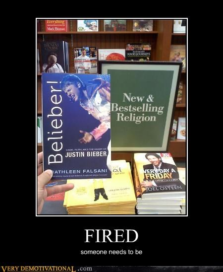 bestseller book fired hilarious justin beiber - 5338379008