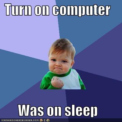 computer fast restart sleep success kid - 5338411776