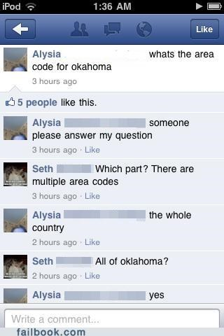 area code facepalm oklahoma stupid - 5338574848