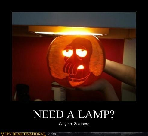 lamp,pumpkins,Pure Awesome,Zoidberg