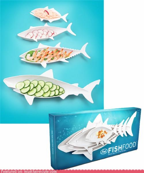 dishes fish food chain shark tableware