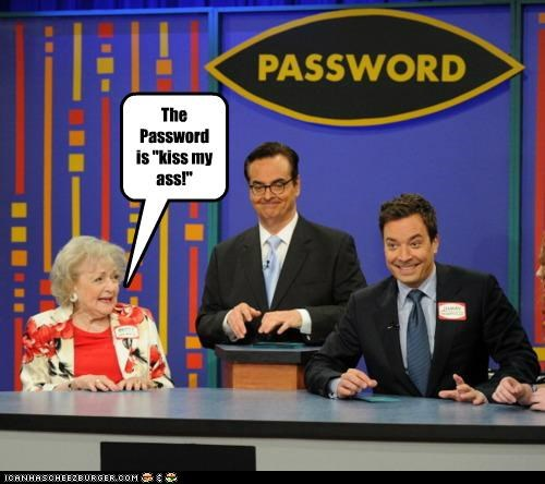 betty white game shows Hall of Fame jimmy fallon password sassy - 5338779392