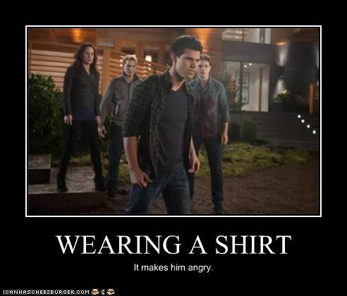 angry Jacob shirt taylor lautner twilight werewolf