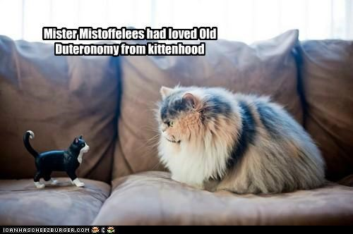 Mister Mistoffelees had loved Old Duteronomy from kittenhood