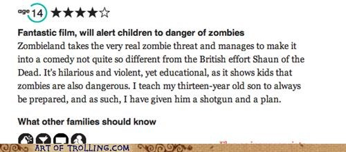 Movie,review,shoppers beware,Zombieland,zombie