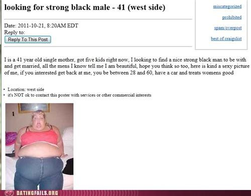 Screenshot of a Craigslist personal ad that is hard to explain in text.