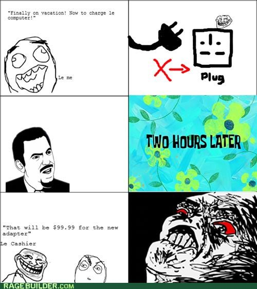 adapter charger Rage Comics Travel - 5339358976