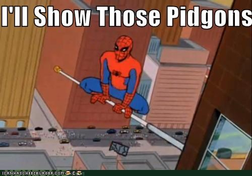 pigeons poop jokes Spider-Man Super-Lols - 5339456768