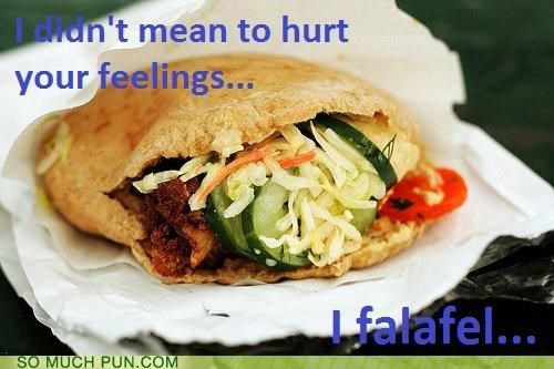 awful falafel feel feelings Hall of Fame hurt literalism similar sounding