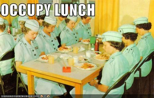 army,food,lunch,Occupy Wall Street,political pictures