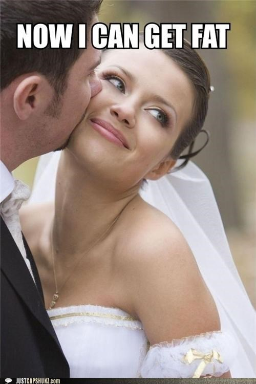 blissful bride fat get fat happy im so excited now i can get fat wedding - 5339512576
