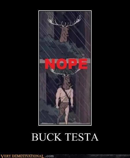 buck testa,cartoons,Chuck Testa,hilarious,hunter