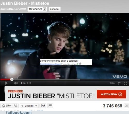 christmas songs justin bieber wrong time of year - 5339603456