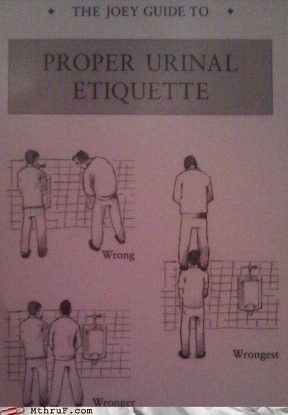 bathroom humor,eyes forward,g rated,M thru F,urinal etiquette,work,wrong,wronger,wrongest