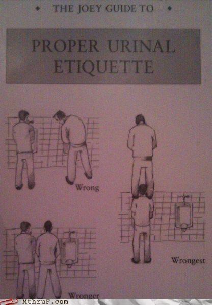 bathroom humor eyes forward g rated M thru F urinal etiquette work wrong wronger wrongest - 5339733760