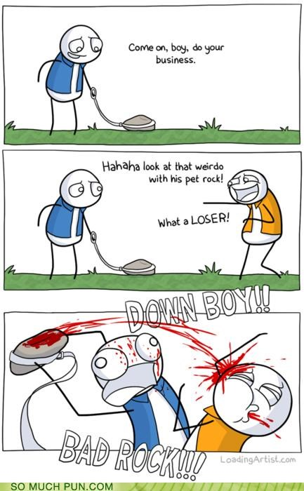 anthropomorphism,double meaning,Hall of Fame,literalism,pet,pet rock,rock