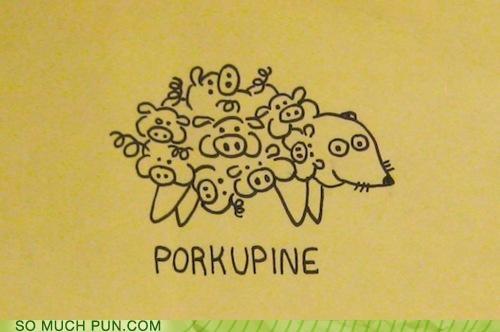 double meaning literalism neologism pig porcupine pork portmanteau - 5339951872