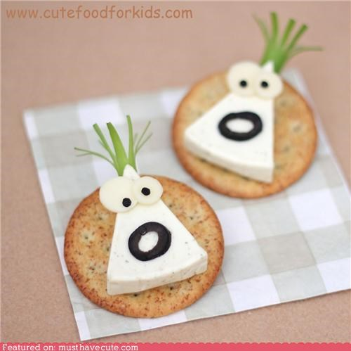cheese cracker epicute face olive onion snack - 5339979008