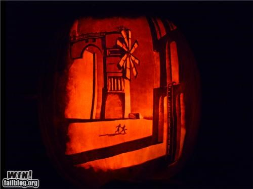 carving halloween nerdgasm obscure pumpkins video games win - 5339984384