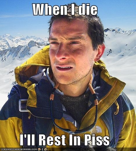 bear grylls,die,peace,piss,pizza,rip,tombstone
