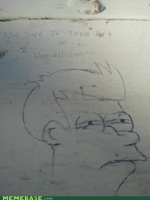 art,fry,graffiti,internet,table,vandalism
