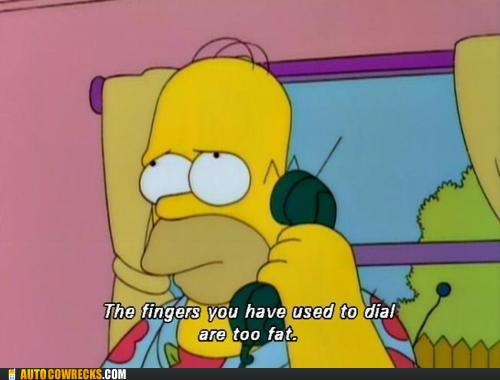 dial dialing fat fingers homer screenshot simpsons