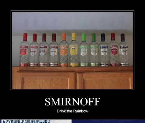 colors hangover pretty pretty colors rainbow smirnoff vodka - 5340326912