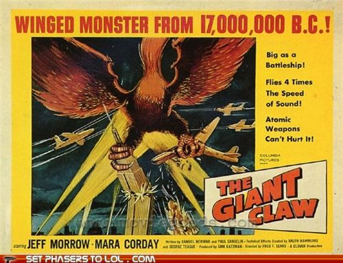 b movie bad best movies old puppet reviews sci fi terrible the giant claw - 5340336640