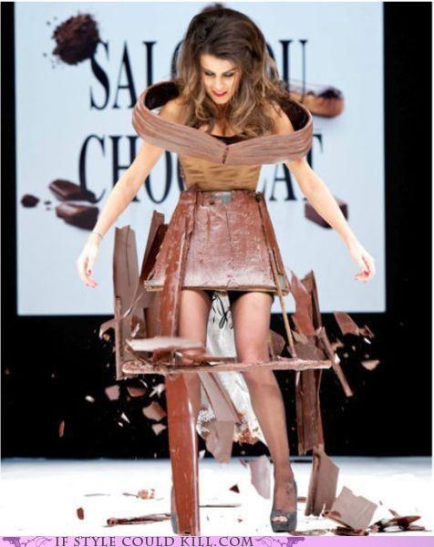 chocolate cool accessories FAIL paris runway salon du chocolat - 5340364800